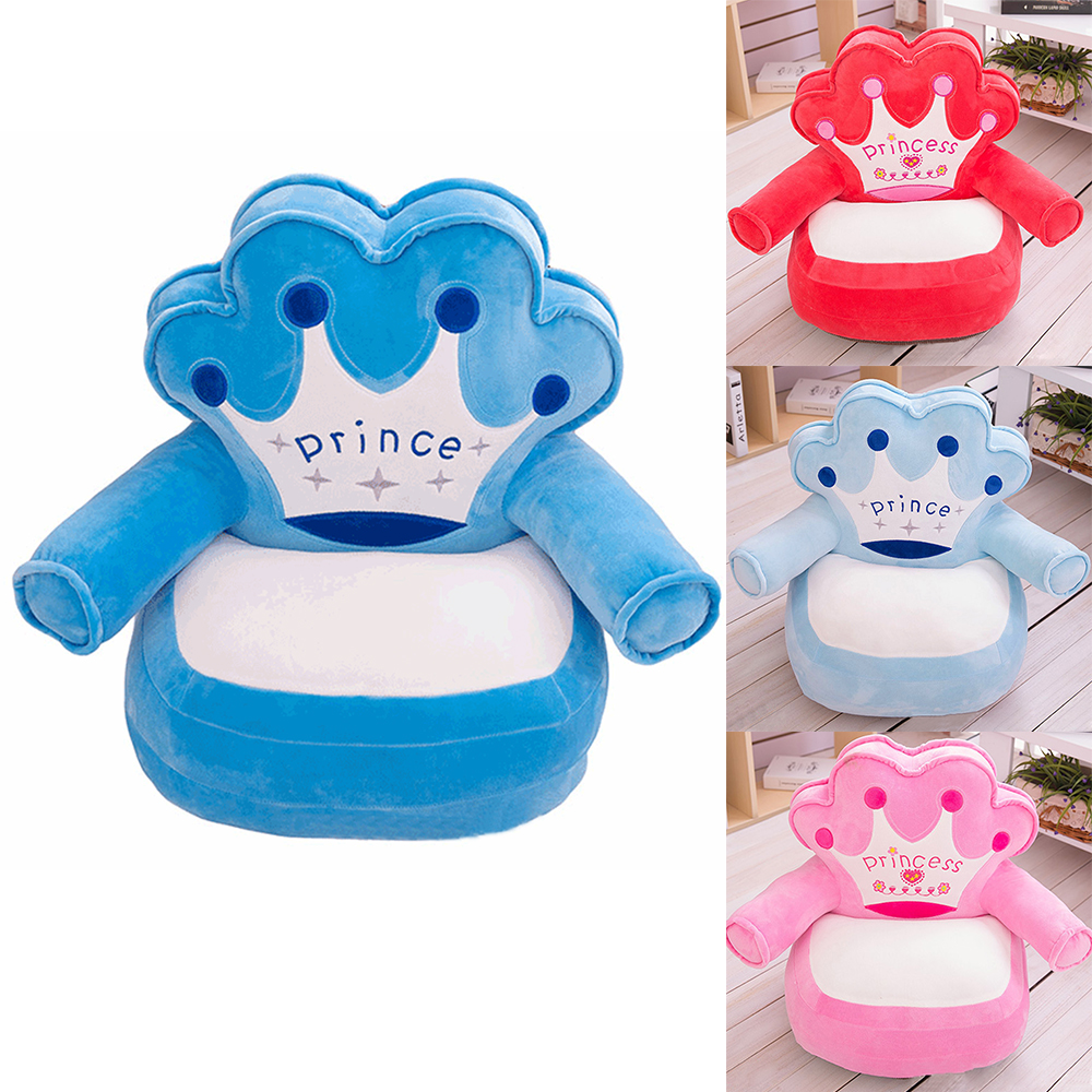 Baby Puff Seat Cushion Only Cover NO Filling Soft Baby Cheap Sofa Cover Feeding Chair Keep Sitting Posture Comfortable Sofa