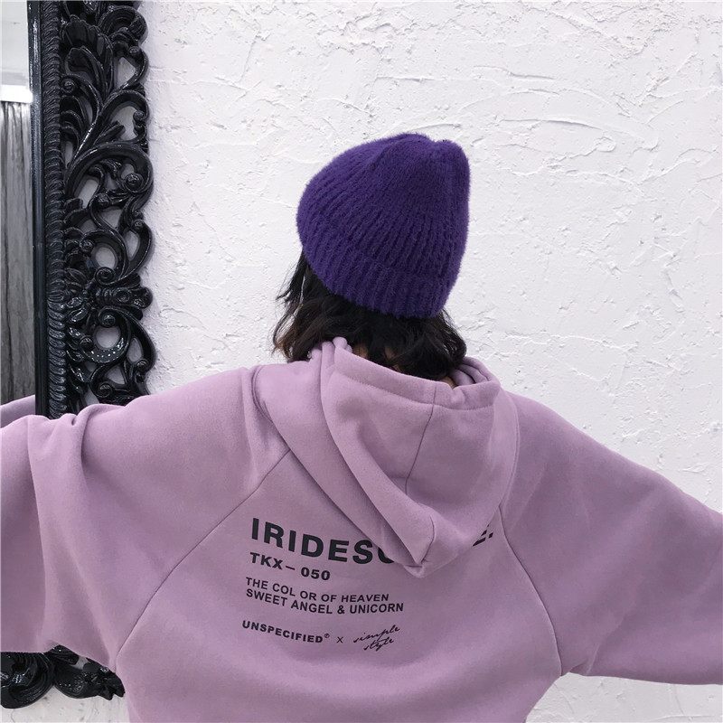 Hoodies Women Winter Elegant Trendy Leisure Hooded Solid Womens Pullover Students Letter Printed Long Sleeve Ladies Sweatshirts 8