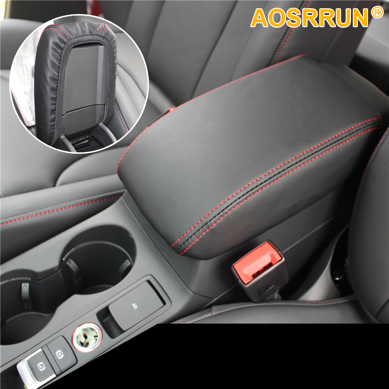 2018 Audi Q3 Interior: AOSRRUN PU Leather Car Armrest Box Cover Car Accessories