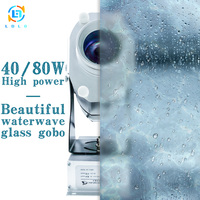 Aluminum Alloy Silver Water Wave Effect 40W LED Gobo Projector Light Long Distance Indoor 4500lumens Projector Lights Waterwave