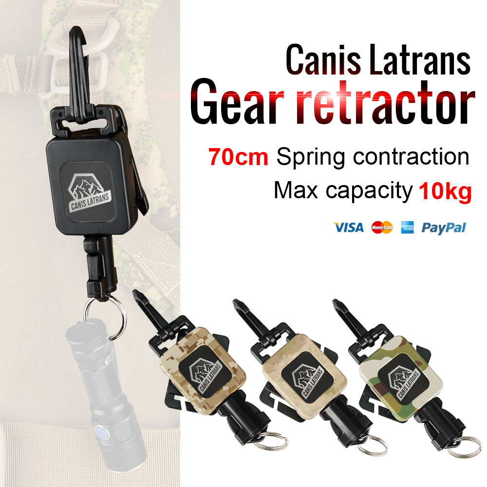 Canis Latrans Airsoft Accessories Tactical 3 Color 10KG Breaking Strength Gear Retractor For Hanging Bag With Air Tool OS33-0081