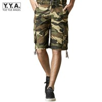 2017 Top Tide Summer Camouflage Shorts For Men Big Pocket Both Side Casual Beach Man Cargo