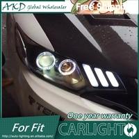 AKD Car Styling LED HID Rio LED Headlights Head Lamp Case For Honda Fit 2014 Bi