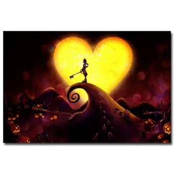 Аниме Плакат Гобелен Шелковый Kingdom hearts в ассортименте