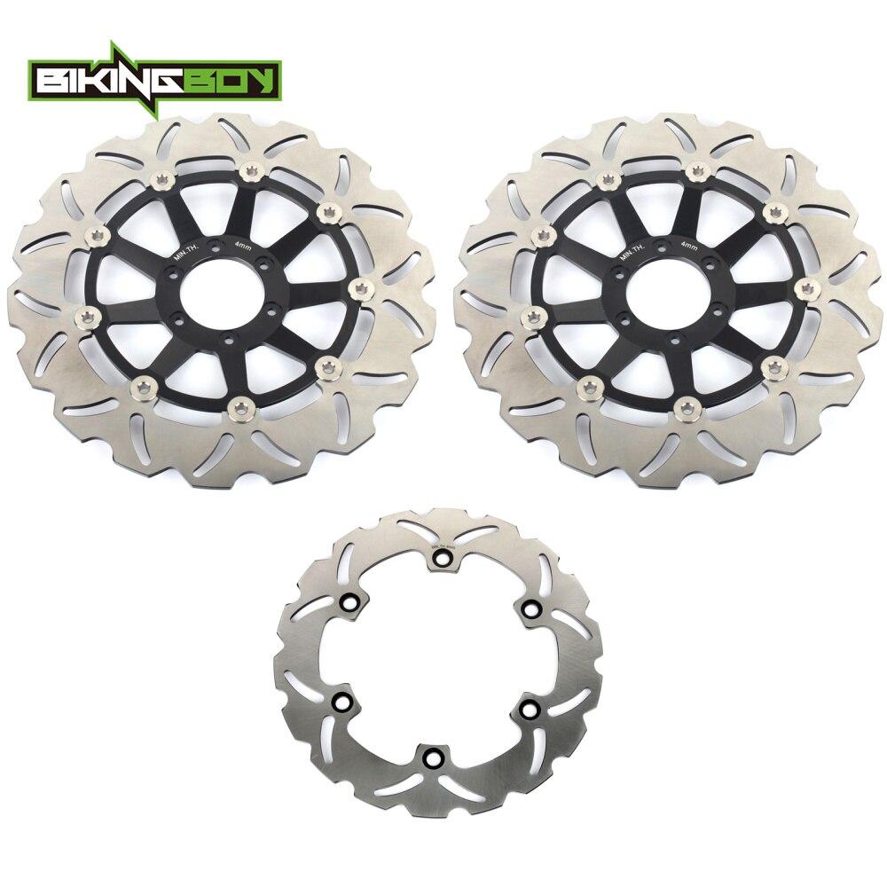 BIKINGBOY Front Rear Brake Discs Disks Rotors For HONDA CBR 1100 XX Super Blackbird 1999 2008 CB 1100 SF X 11 X Eleven 2000 2004