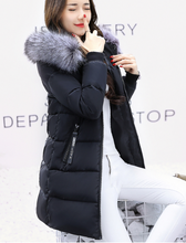 2017 New Hot Sell Winter Jacket Female Plus Size Padded Fur Collar Women Cotton Coat Hooded Long Outerwear Feminine Parka