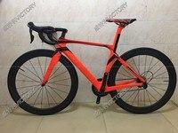 LURHACHI HQR23 спрятана тормоза углеродного волокна полный велосипед углерода дороги рамы велосипеда + Карбон колеса + карбон руль/седло + список г
