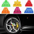 20 pcs /set Car Wheel Nuts Cap 17mm 19mm 21mm multicolor Silicone cap nut  wheel cap tyre screws cover bolt Wheel Bolt Caps