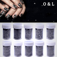 1pcs Sexy Black Lace Nail Art Foil Sticker Paper Flower Design Nail Tips Decorations  Manicure Tool