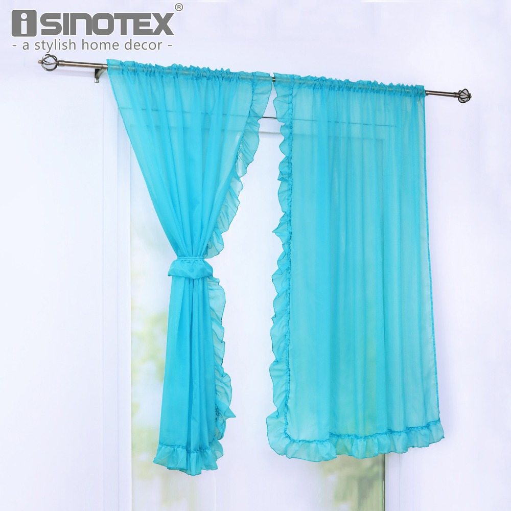 Window Curtain Purfle Decoration Sheer Curtain Valance For Kitchen ...
