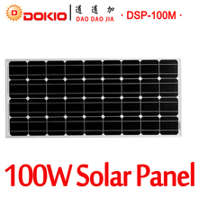 DOKIO Brand 100W 18 Volt Black Solar Panel China Cell/Module/System/Home/Boat  100 Watt Panels  charger Solar