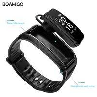 שעונים חכמים BOAMIGO דיבור צמיד צמיד מותג שעונים בנד תזכורת הודעה מד צעדים קלוריות Bluetooth עבור IOS אנדרואיד