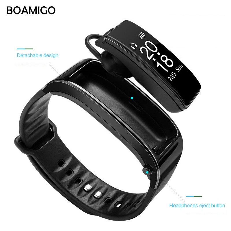 Smart Uhren BOAMIGO Marke Armband Armband Sprechen Band Uhren Nachricht Erinnerung Pedometer Kalorie Bluetooth Für IOS Android