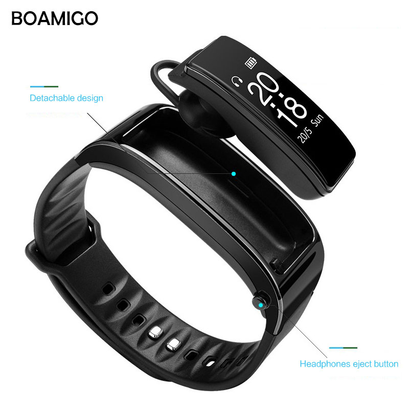 все цены на Smart Watches BOAMIGO Brand Bracelet Wristband Talk Band Watches Message Reminder Pedometer Calorie Bluetooth For IOS Android