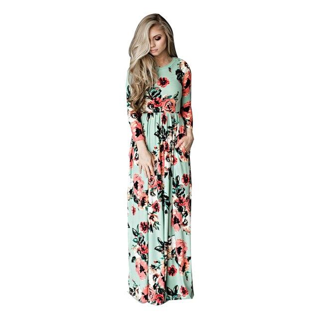 Плюс Размеры богемный Средства ухода за кожей для будущих мам Платье с принтом Платья для женщин для беременных Для женщин Цветочный Длинные свободные платья макси платья бохо платье 3XL