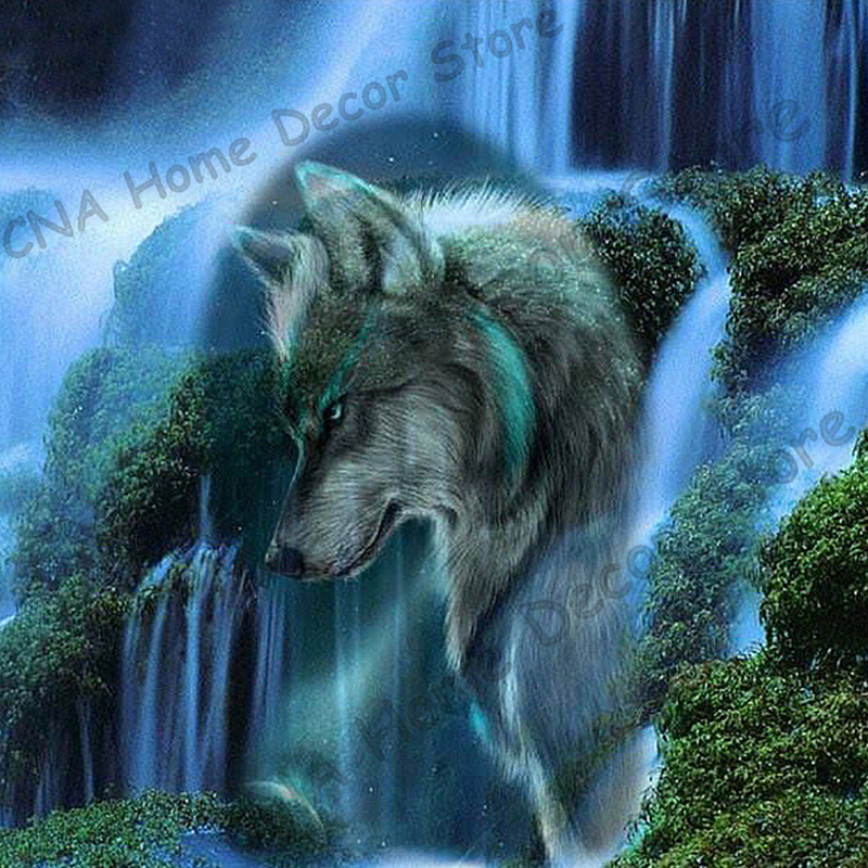 Wolf Embroidery Diamond Full Square Paintings Mosaic Resin 5D DIY Diamond painting 3D cross stitch kits Animal Decor Stickers