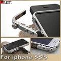 Para iphone 5s case homem super braço de alumínio do metal no vidro traseiro para apple iphone 5 case iphone se armação de cobertura para iphone5s telefone casos