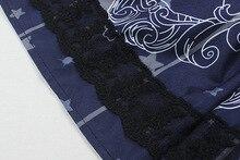 Sky Constellation Gothic Lolita Dress vestidos Dark Blue JSK Veil Tunic Night Angel Pattern Short Sleeve Dresses