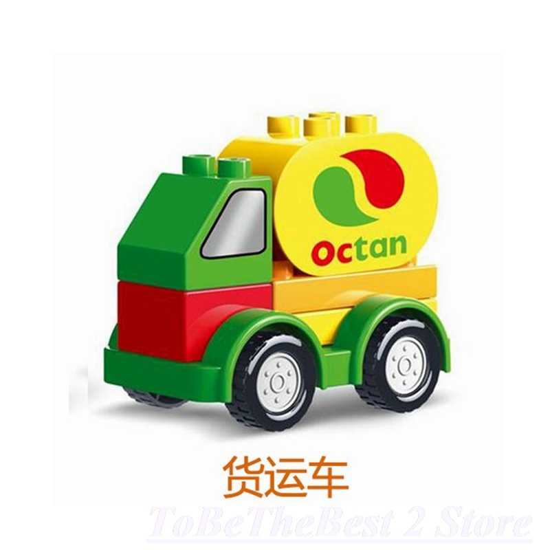 Venta caliente Duplo dibujos animados ciudad coche rescate ambulancia carreras coche modelo bloques de construcción Duploed ladrillo juguetes educativos para las ciudades de los niños