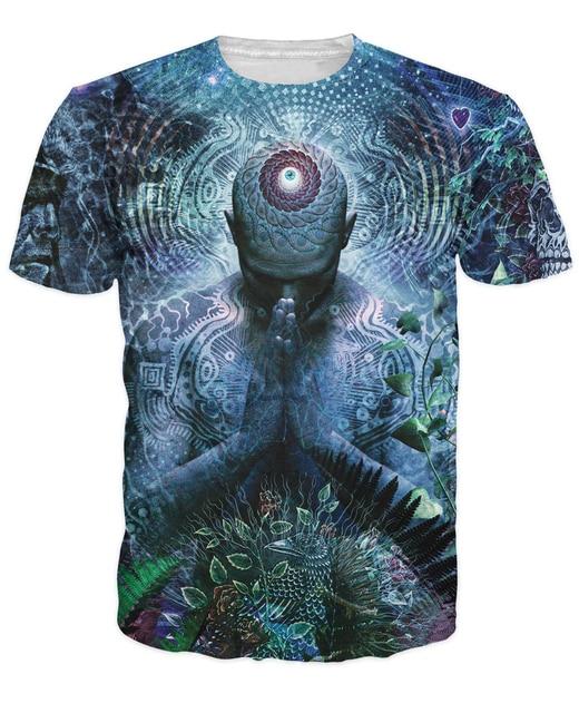 Gratitud por la Tierra y el Cielo Camiseta conciencia t camisa de Las Mujeres de Los Hombres 3d Tops Ropa de Moda de Verano tees Trajes