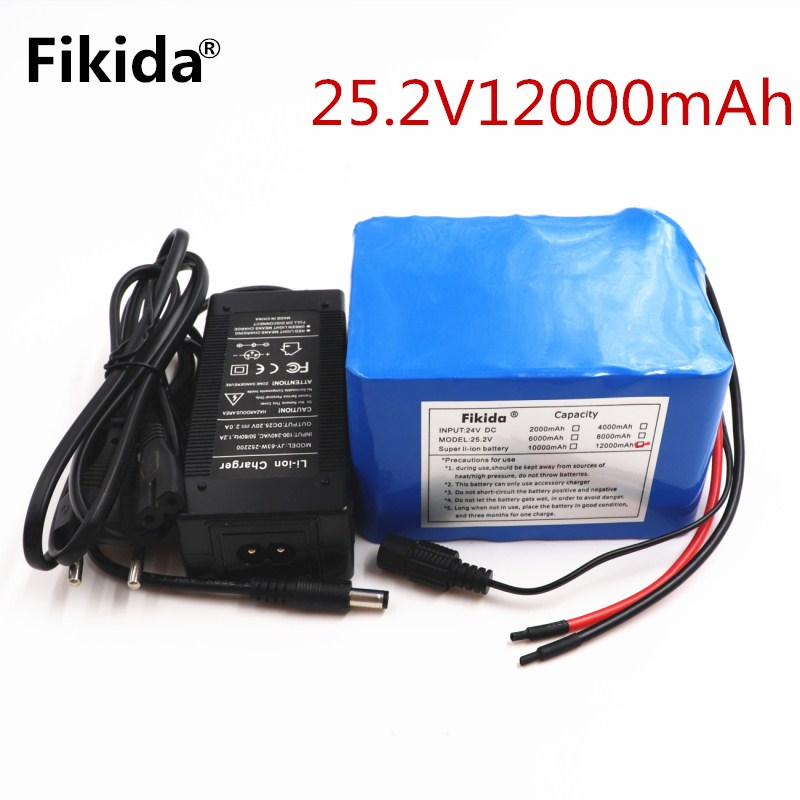 battery pack 24v 12ah 6S6P lithium battery pack 25.2V 12ah battery li-ion for bicycle battery pack 350w e bike 250w motor wit gp 23a battery pack