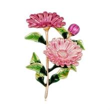 3 Colors Women Brooch Small Daisy Flower Shape Enamel Metal Alloy Brooch Pins For Wedding Party Clothes Pins Fashion Jewelry alloy flower brooch