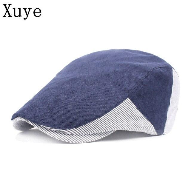 XUYE brief style summer hat cotton visors women sun cap visor casual caps  headwear flat berets hats for men c206b83caf6d