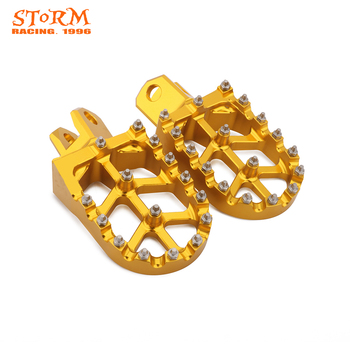 Motorcycle MX Foot Pegs FootRest Pedals For SUZUKI RM125 RM250 91-02 RMX250R 89-99 RMX250S 93-99 Dirt Bike