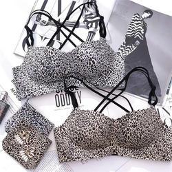Бюстгальтер Краткие наборы сексуальное нижнее белье женское белье набор косточек нижнее белье леопардовой расцветки бюстгальтер для Для