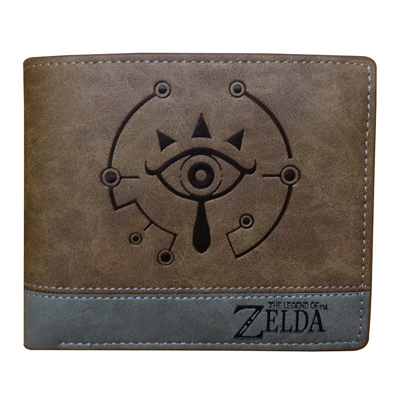 Games The Legend of Zelda Wallet Embossing LOGO Leather Short Purse Gifts Teenager Boy Girl Dollar Price Wallets with Coin Bags anime attack on titan men wallets pu leather cartoon short purse with zipper coin pocket gifts teenager dollar price wallet