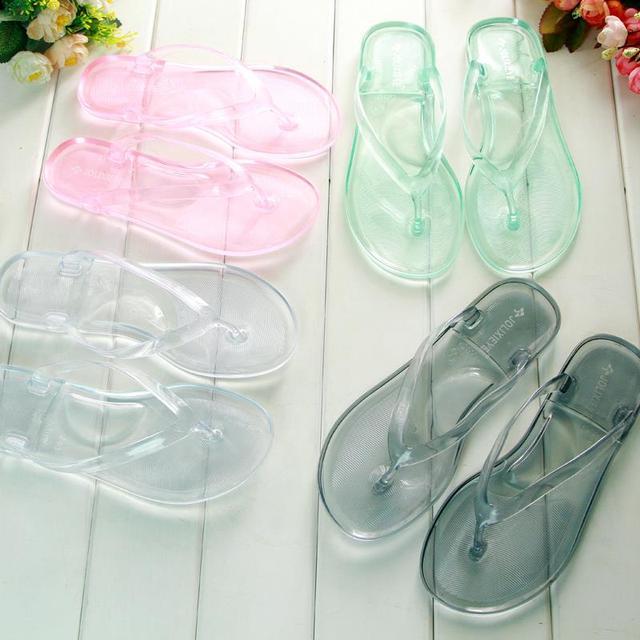 f7ea23da1 Best Selling Fashion Plastic Jelly Slippers Flat Sandals Women Flip Flops  Ladies Summer Beach Shoes Casual