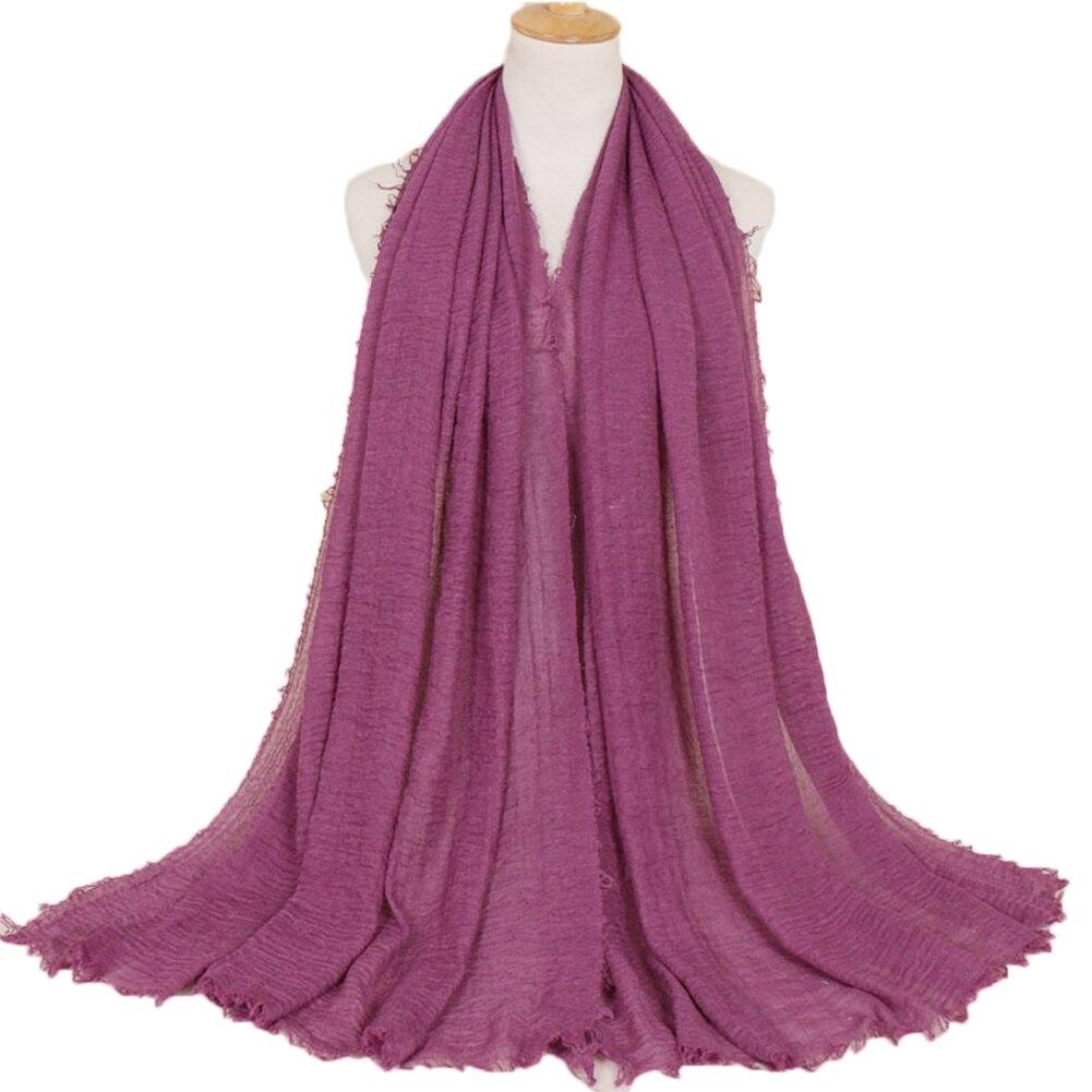 YJSFG HOUSE Ladies Headband   Scarves     Wraps   Premium Viscose Maxi Crinkle Cloud Hijab Female   Scarf   Shawl Soft Islam Muslim HX Hot