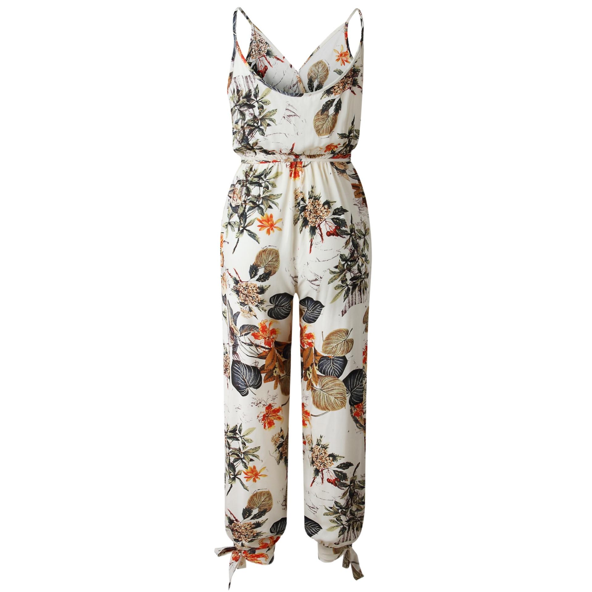 5s35 V cou Sexy Body femmes avec ceinture Body Femme barboteuses Feminino Floral combishort salopette imprimer printemps été combinaison