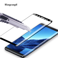 Wangcangli For Samsung Galaxy Note 8 Tempered Glass 9H Electroplated 3D Front Full Film Case Note8