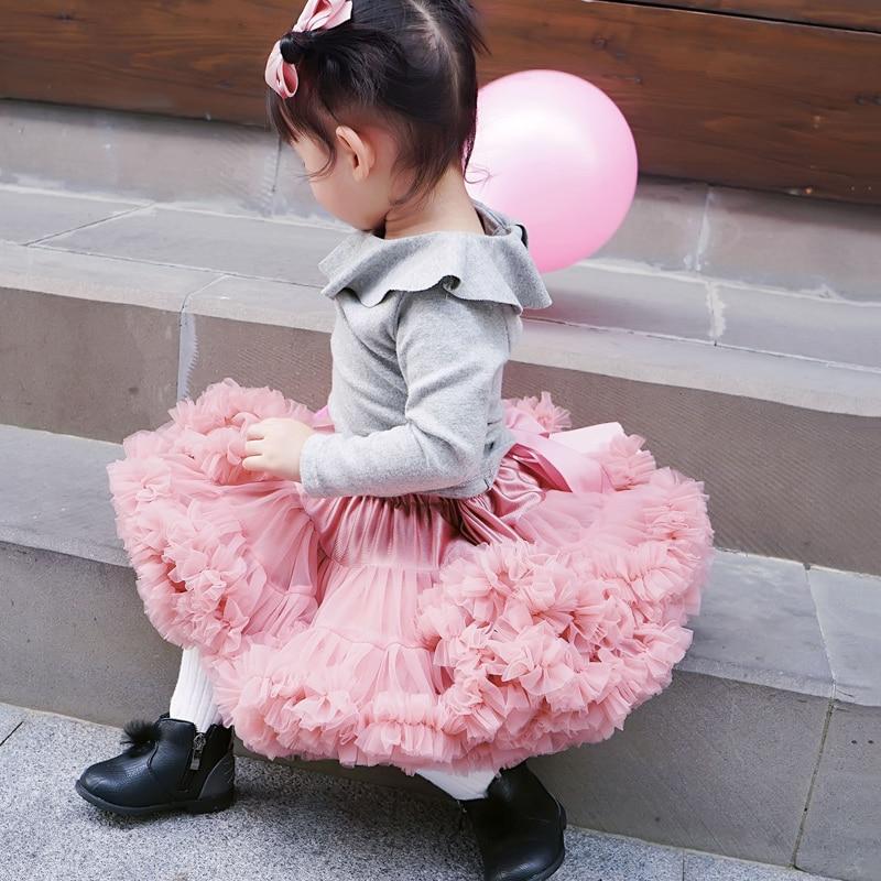 Freies Verschiffen 2-18 Jahre Flauschigen Chiffon Rock Pettiskirt Baby 14 Farben Tutu Röcke Mädchen Prinzessin Dance Party Tüll Rock Röcke