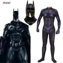 באטמן קוספליי תלבושות מסכת חליפת את כהה אביר ברוס וויין Superhero ליל כל הקדושים תלבושות מערער בגד גוף סרבל ילדים גברים מבוגרים