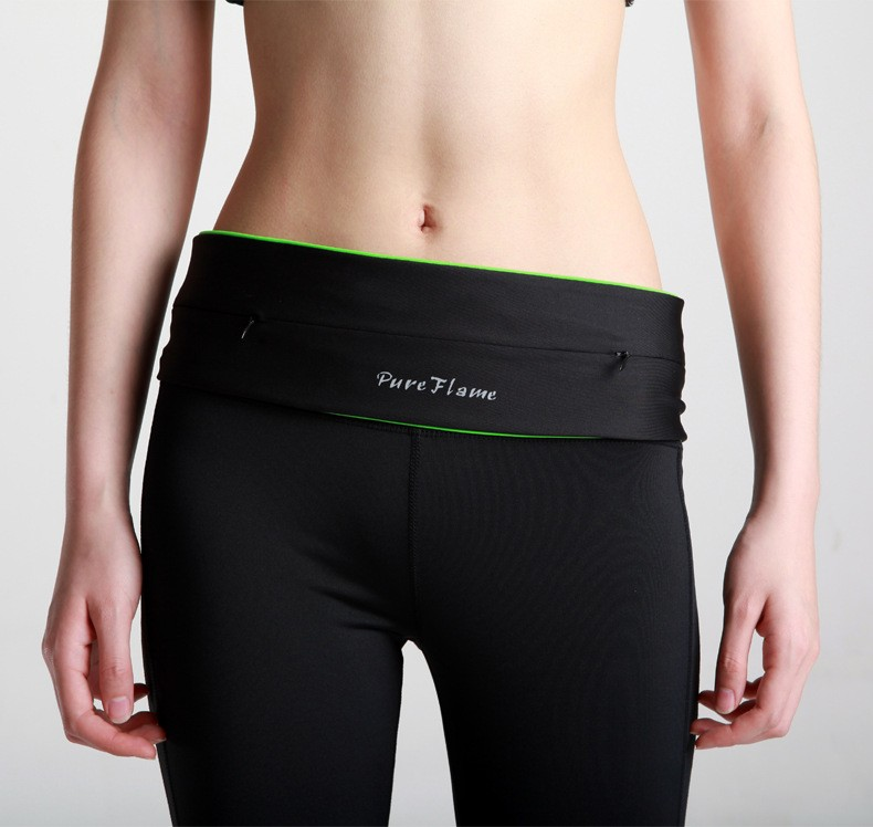 Unisex Sport Gym Running Belt Waist Bag Pack Light Weight Spandex Casual Cycling Funny Storage Waist Packs For Phone Card Key (7)