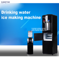 HZB 15YLR vertical household ice maker household water dispenser vertical cold and hot type drinking water type ice maker 220V