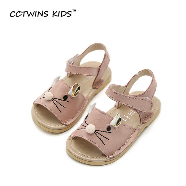 CCTWINS KIDS 2017 Summer Children Beach Toddler Baby Brand Girl Fashion Strap Sandal Kid White Princess Ankle Pink Flat B664