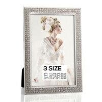 Europejski Metal pulpit ramki Diament Diament Mozaika dekoracji 3 7 10 cal dwukierunkowy Kreatywny Ślub ramka Elegancja Wedding Present