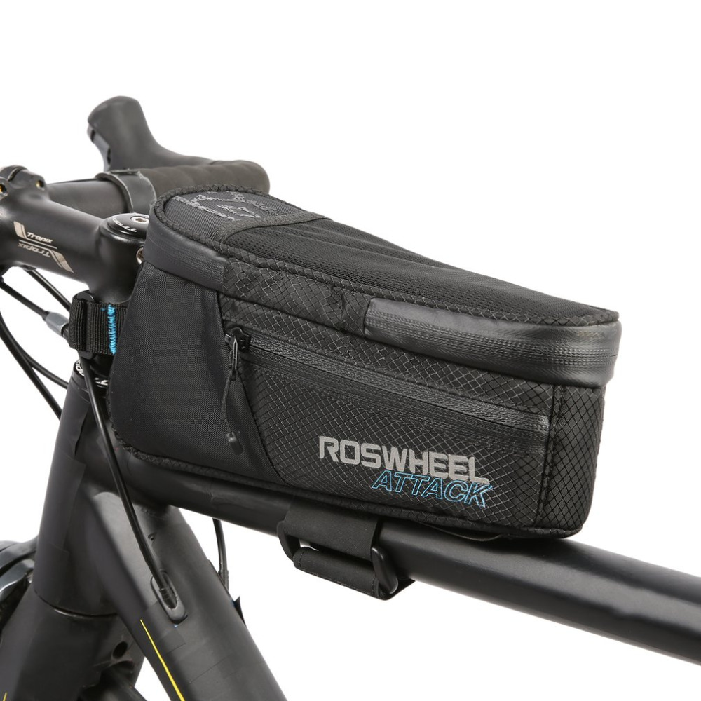 ROSWHEEL ATTACK Series Waterproof Bicycle Bike Bag Accessories Saddle Bag Cycling Front Frame Bag 121370 Top quality roswheel mtb bike bag 10l full waterproof bicycle saddle bag mountain bike rear seat bag cycling tail bag bicycle accessories