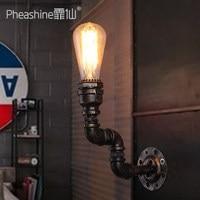 Loft Wall Lights Creative Pipe Lamp Industrial Style Edison Vintage Wall Light Coffee Shop Art Deco Wall Sconces Lighting