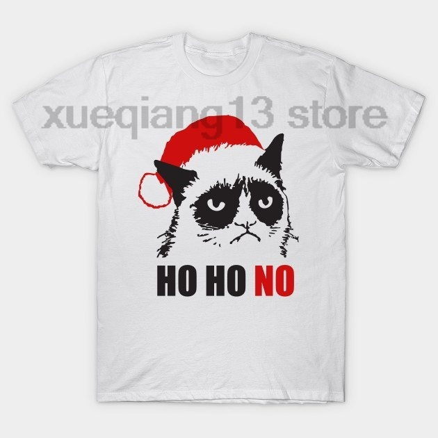 0906ac809 Grumpy Christmas Cat T Shirt-in T-Shirts from Men's Clothing on ...