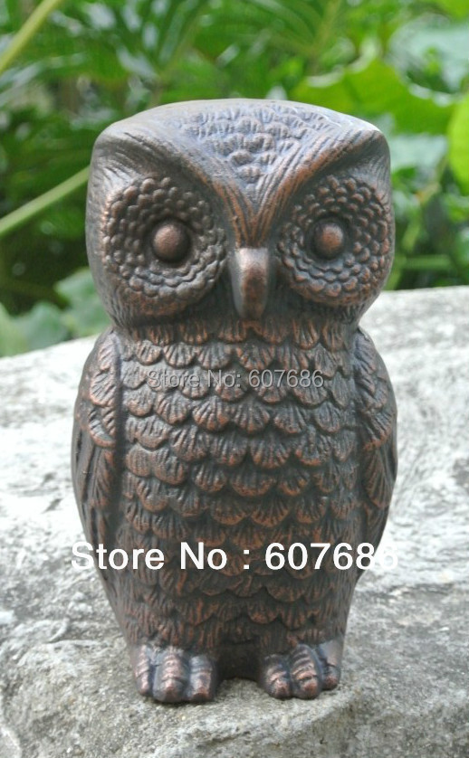 Sale Wrought Iron Owl Vintage Cast Iron Owl Figurine Paper
