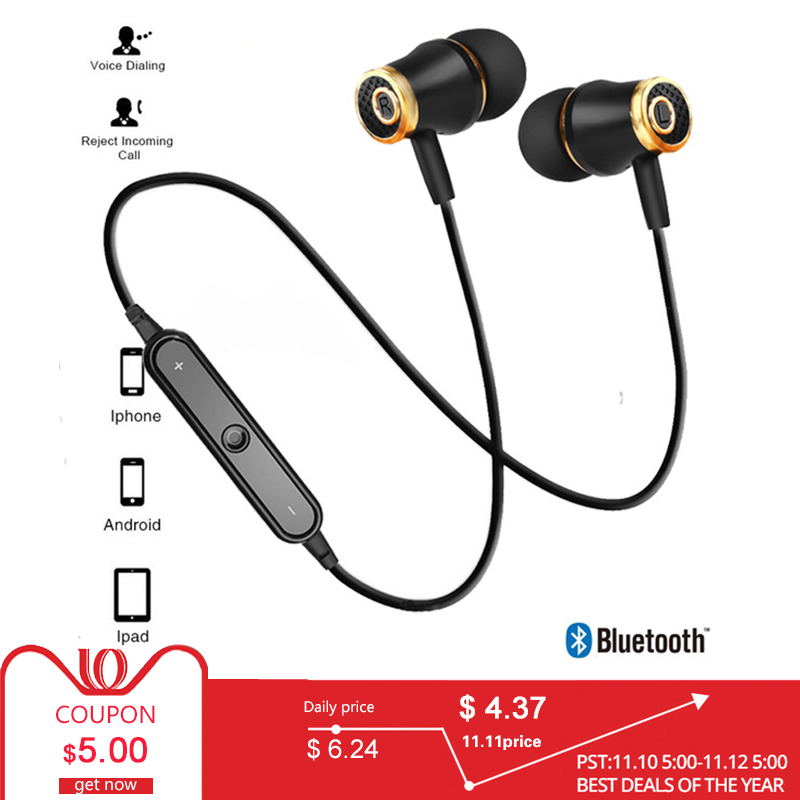 Sport Bluetooth Earphones Wireless Headphones Running earphone Stereo Super Bass Earbuds Sweatproof With Mic Headset super bass earphone hifi stereo sound 3 5mm earbuds in ear earphones with mic sport running headset for phone