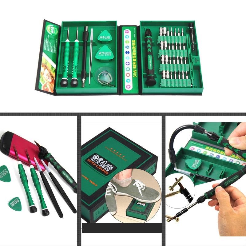 LAOA Set di cacciaviti di precisione 38 in 1 hot-sell con punte a - Utensili manuali - Fotografia 6