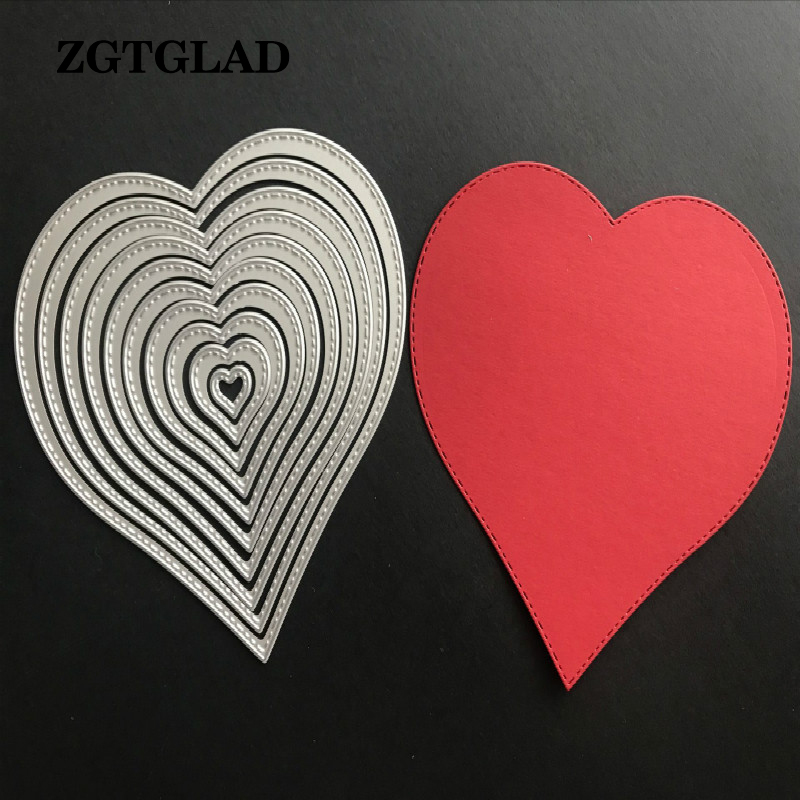 ZGTGLAD 1 Pcs Basic Stars Hearts Married Merry go round Shot Die Cuts Metal Die Cutting Dies New Arrival