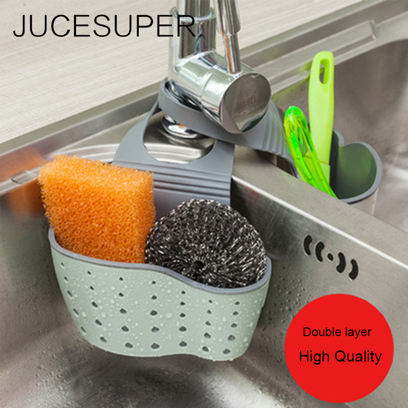 Sink Shelf Soap Sponge Drain Rack Bathroom Holder Washbasin Kitchen Storage Accessories Faucet Sink Organizer For Dishes Wash