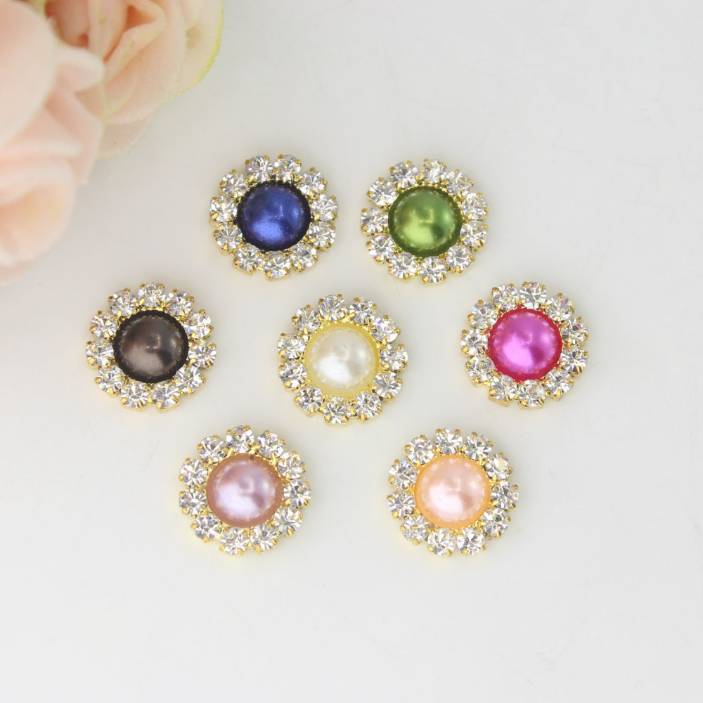 2018 Time-limited Top Fashion Washable 11mm Flatback Embellish Diy Hair Interspersed Button Shiny Wedding Accessories Costura