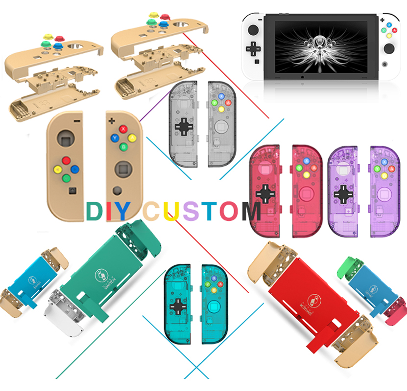 Housing Shell Case Cover For Nintendo Switch NS Controller Joy-Con Transparent Replacement DIY Custom Cases For Nintendo Switch
